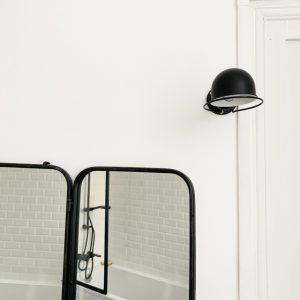 Salle de bain noir et blanc jielde